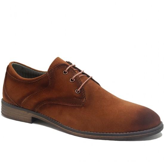 Modamela E137 Taba Rengi Süet Bağcıklı Erkek Ayakkabı