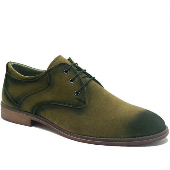 Modamela E138 Yeşil Süet Bağcıklı Erkek Ayakkabı