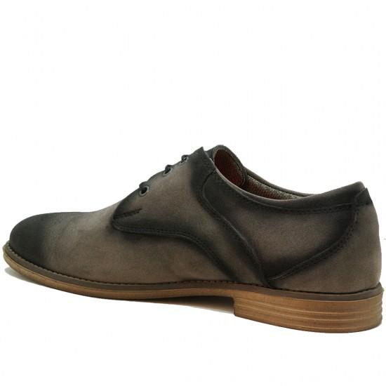 Modamela E140 Gri Siyah Süet Bağcıklı Erkek Ayakkabı