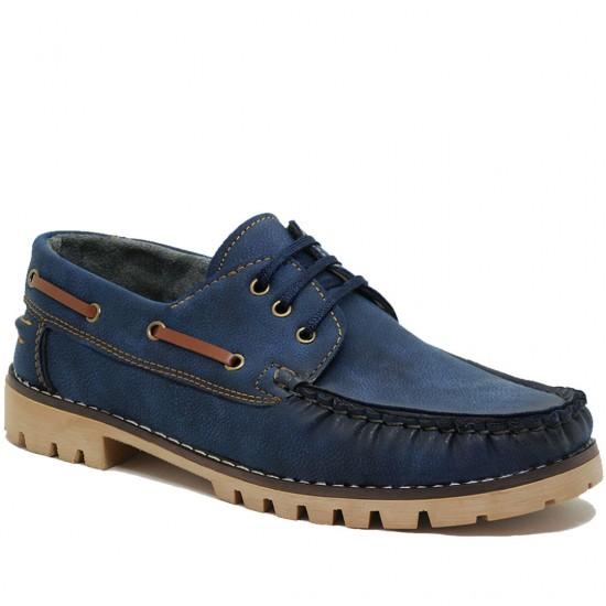Modamela E143 Mavi Nubuk Erkek Casual Ayakkabı