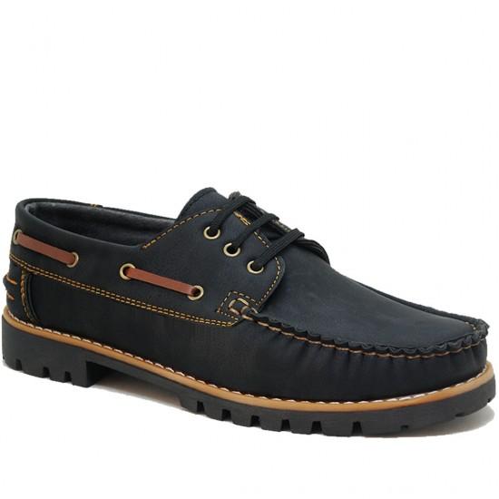 Modamela E145 Koyu Lacivert Taba Nubuk Erkek Casual Ayakkabı
