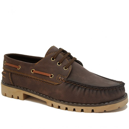 Modamela E146 Kahverengi Nubuk Erkek Casual Ayakkabı