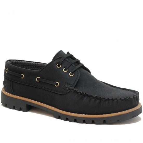 Modamela E148 Siyah Nubuk Erkek Casual Ayakkabı