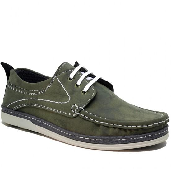 Modamela E154 Yeşil Nubuk Erkek Casual Ayakkabı