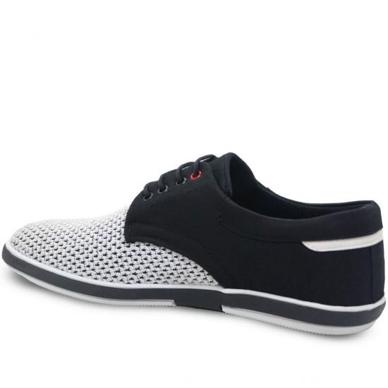 Modamela E165 Beyaz Siyah Keten Casual Erkek Ayakkabı