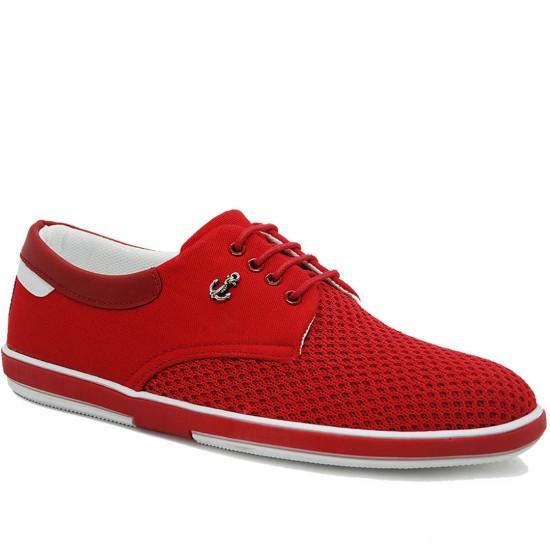 Modamela E167 Kırmızı Keten Casual Erkek Ayakkabı