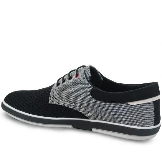 Modamela E170 Siyah Gri Keten Casual Erkek Ayakkabı