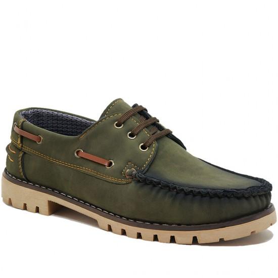 Modamela E219 Yeşil Nubuk Erkek Casual Ayakkabı