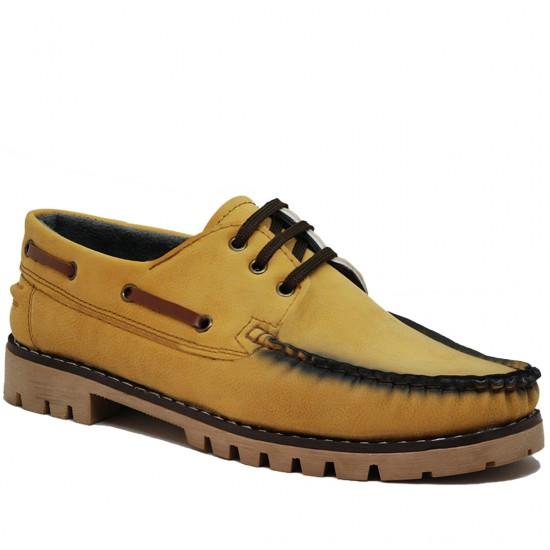 Modamela E240 Hardal Nubuk Erkek Casual Ayakkabı