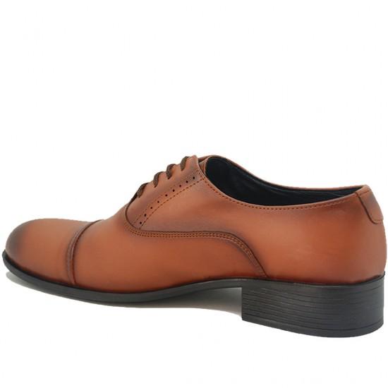Modamela E088 Taba Rengi Deri Erkek Klasik Ayakkabı
