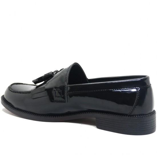 Modamela E100 Siyah Rugan Corcik Erkek Ayakkabı