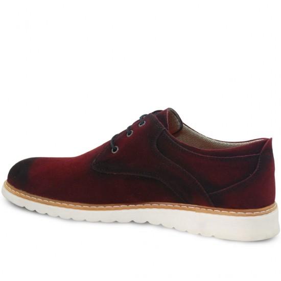 Modamela E111 Bordo Süet Erkek Ayakkabı