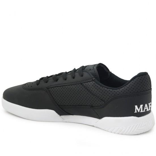 Modamela E184 Siyah Beyaz Cilt Erkek Spor Ayakkabı