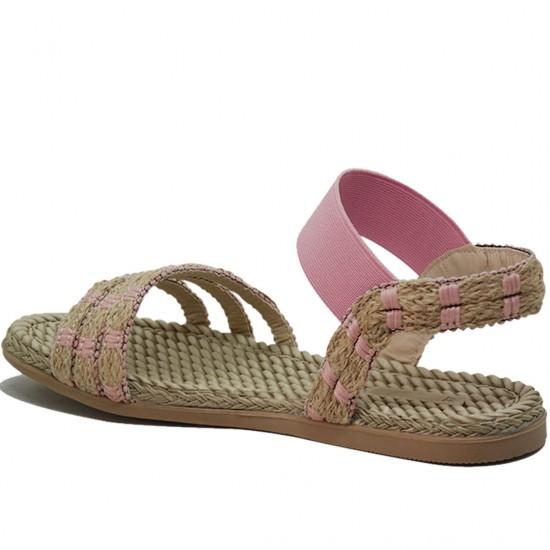 Modamela K055 Pembe Hasır Kadın Sandalet