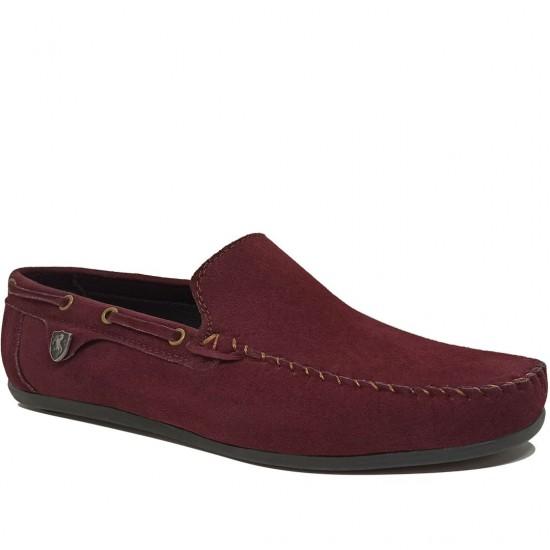 Modamela E054 Bordo Süet Erkek Ayakkabı