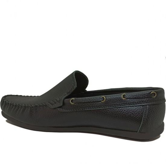 Modamela E056 Siyah Deri Erkek Ayakkabı