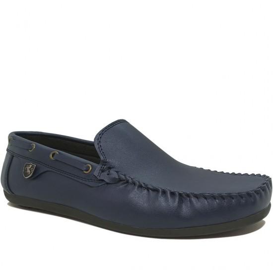 Modamela E059 Lacivert Deri Erkek Ayakkabı