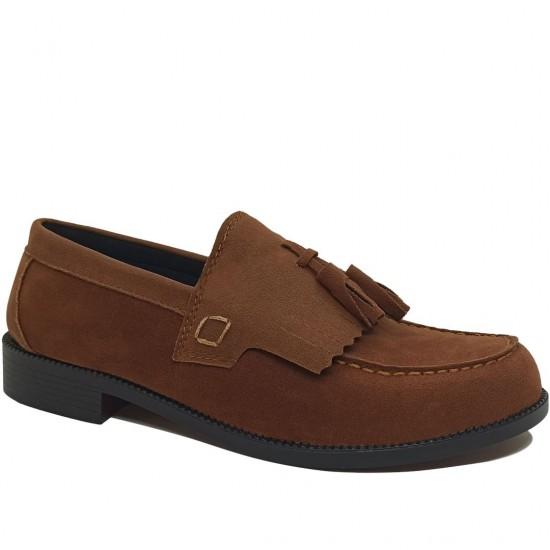 Modamela E097 Taba Rengi Süet Corcik Erkek Ayakkabı