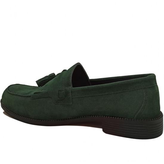 Modamela E098 Yeşil Süet Corcik Erkek Ayakkabı