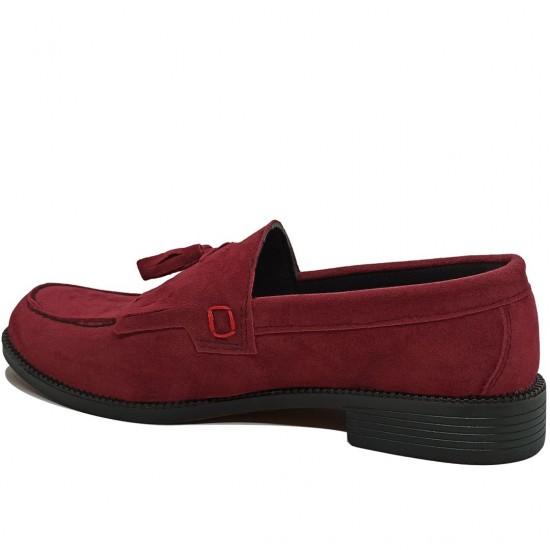Modamela E099 Bordo Süet Corcik Erkek Ayakkabı