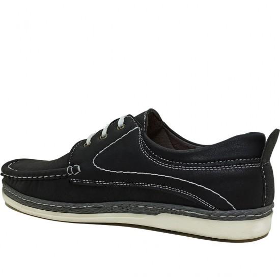 Modamela E149 Siyah Nubuk Erkek Casual Ayakkabı