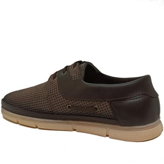 Modamela E345 Kahverengi Nubuk Erkek Casual Ayakkabı