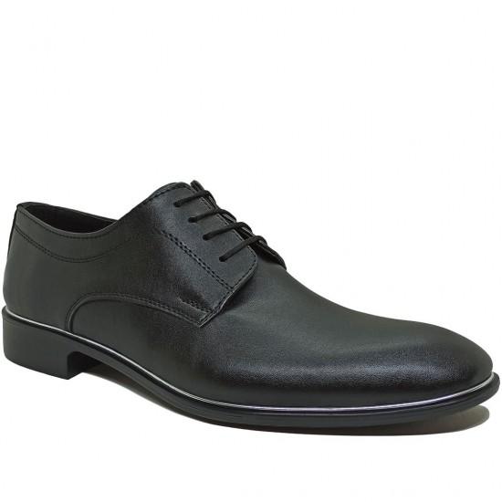 Modamela E349 Siyah Deri Erkek Klasik Ayakkabı