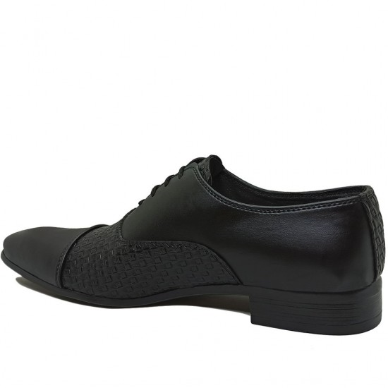 Modamela E351 Siyah Deri Klasik Erkek Ayakkabı