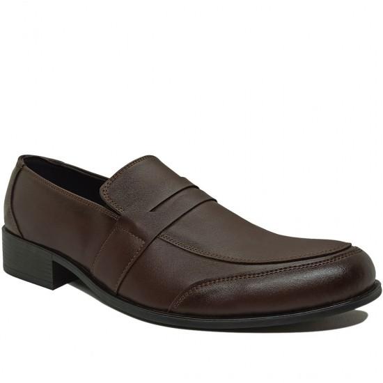 Modamela E357 Kahverengi Deri Klasik Erkek Ayakkabı