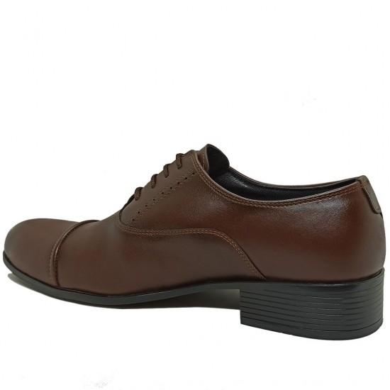 Modamela E360 Kahverengi Deri Klasik Erkek Ayakkabı