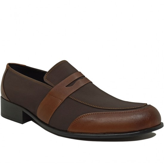 Modamela E364 Kahverengi Deri Klasik Erkek Ayakkabı