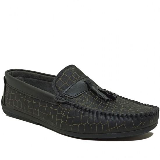 Modamela E368 Siyah Nubuk Erkek Ayakkabı