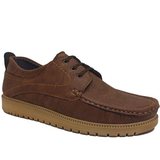 Modamela E420 Taba Nubuk Bağcıklı Erkek Ayakkabı