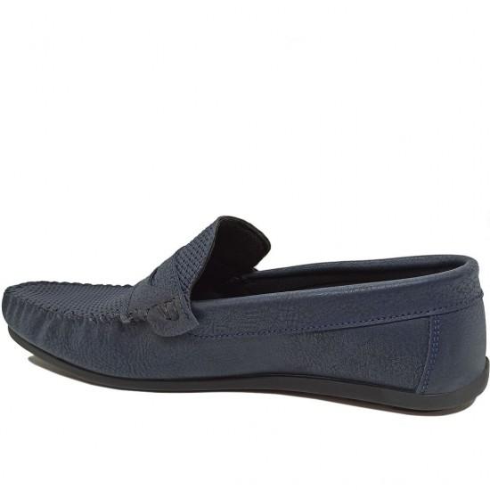 Modamela E423 Lacivert Deri Erkek Ayakkabı
