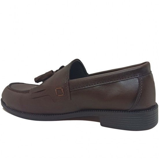 Modamela E449 Kahverengi Deri Corcik Erkek Ayakkabı