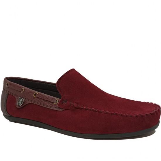 Modamela E478 Bordo Süet Erkek Ayakkabı
