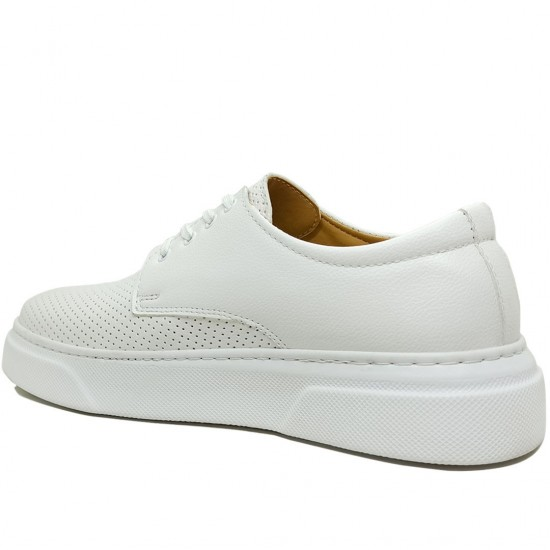 Modamela E341 Beyaz Nubuk Erkek Spor Ayakkabı