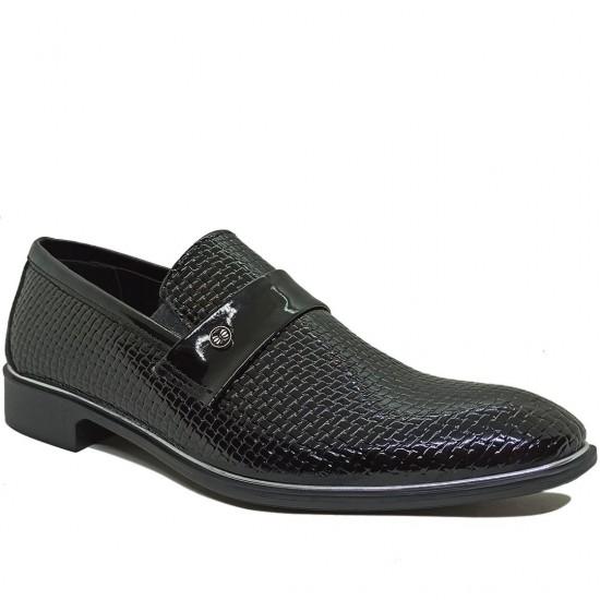 Modamela E350 Siyah Rugan Klasik Erkek Ayakkabı