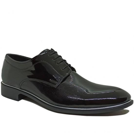 Modamela E352 Siyah Rugan Klasik Erkek Ayakkabı