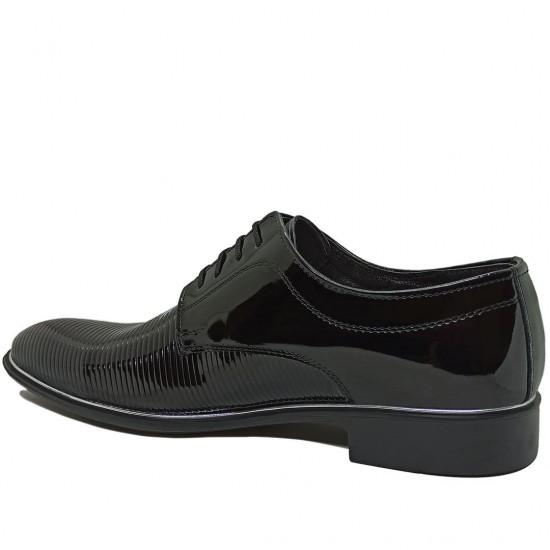 Modamela E353 Siyah Rugan Klasik Erkek Ayakkabı