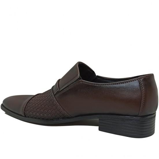 Modamela E359 Kahverengi Deri Klasik Erkek Ayakkabı