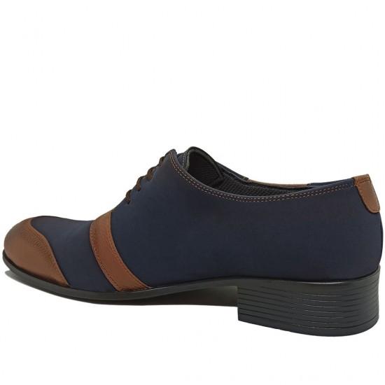 Modamela E363 Lacivert Deri Klasik Erkek Ayakkabı