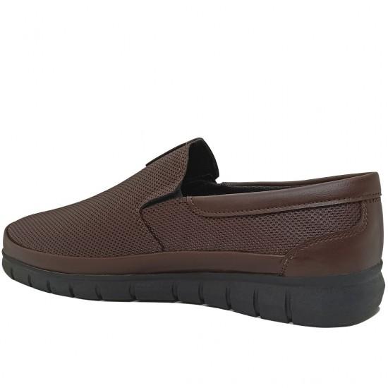 Modamela E374 Kahverengi Deri Günlük Erkek Ayakkabı