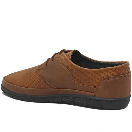 Modamela E378 Taba Rengi Deri Bağcıklı Erkek Ayakkabı