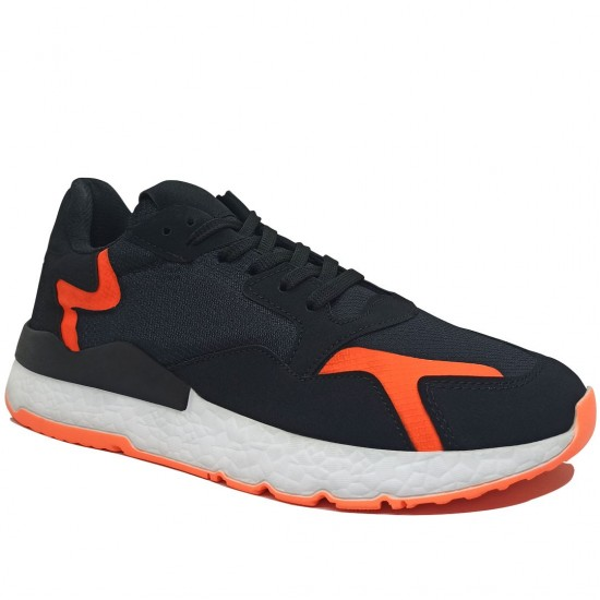 Modamela E394 Siyah Anorak Bağcıklı Erkek Spor Ayakkabı