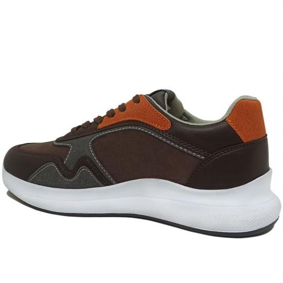 Modamela E404 Kahverengi Bağcıklı Erkek Spor Ayakkabı