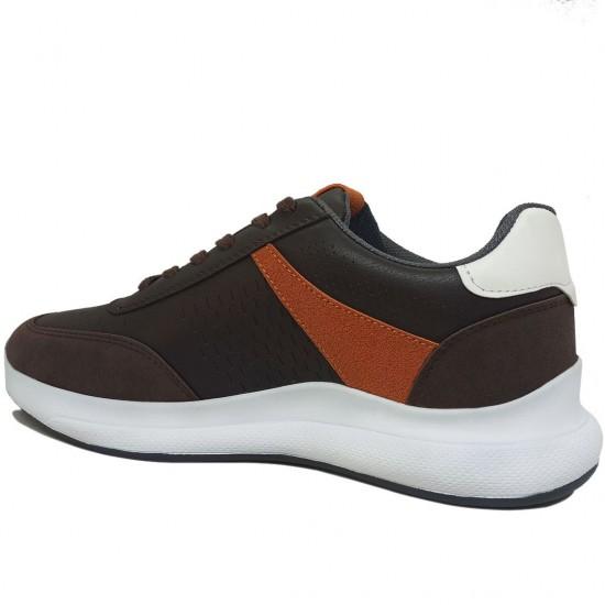 Modamela E410 Kahverengi Bağcıklı Erkek Spor Ayakkabı