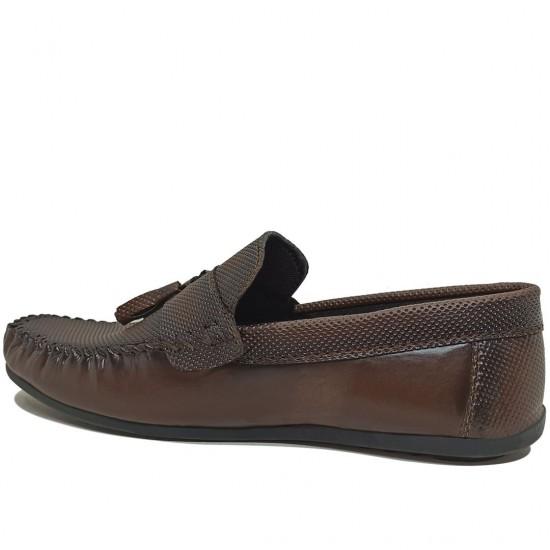 Modamela E419 Kahverengi Deri Erkek Ayakkabı