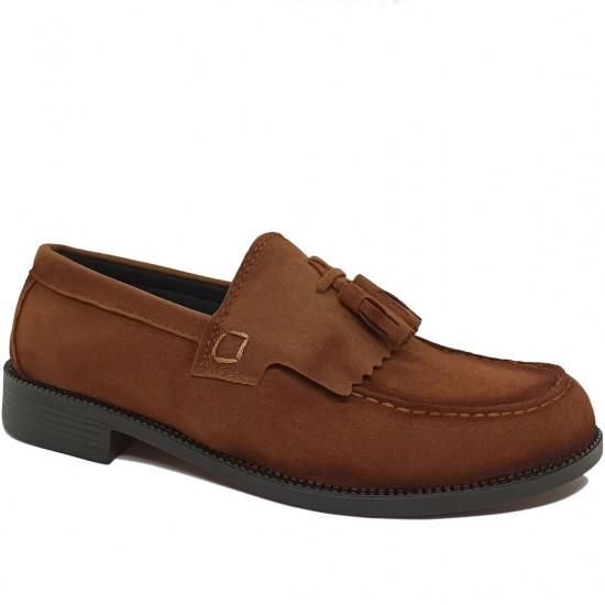 Modamela E429 Taba Rengi Süet Corcik Erkek Ayakkabı