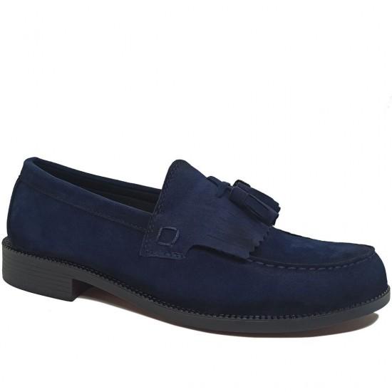Modamela E431 Lacivert Süet Corcik Erkek Ayakkabı